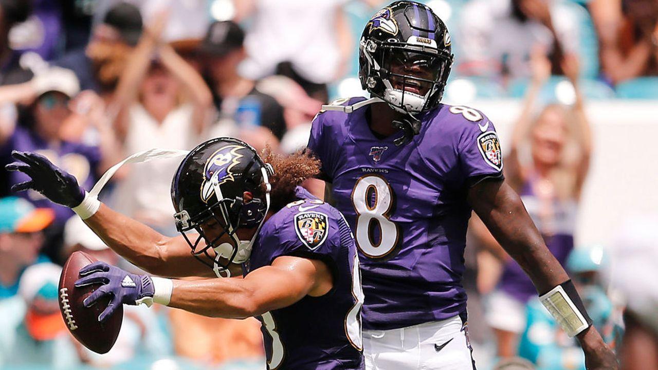 Platz 1: Baltimore Ravens (14-2, letzte Woche Platz 1) - Bildquelle: 2019 Getty Images