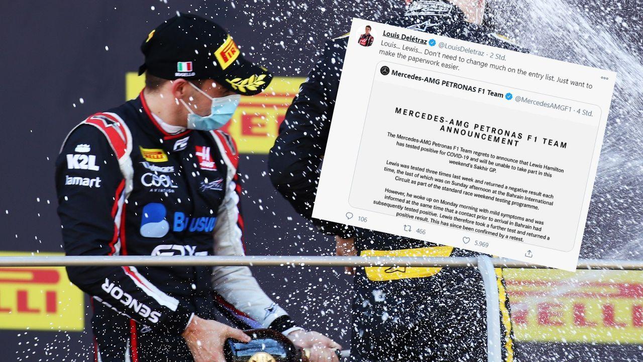Corona-Erkrankung von Hamilton: Formel-2-Talent Deletraz bietet sich bei Mercedes an - Bildquelle: Getty / twitter.com/LouisDeletraz