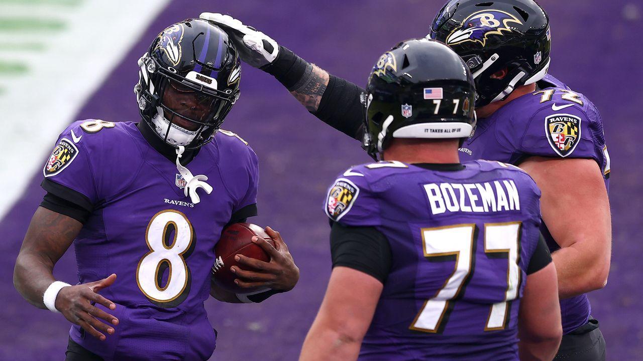 Platz 3: Baltimore Ravens - Bildquelle: 2020 Getty Images