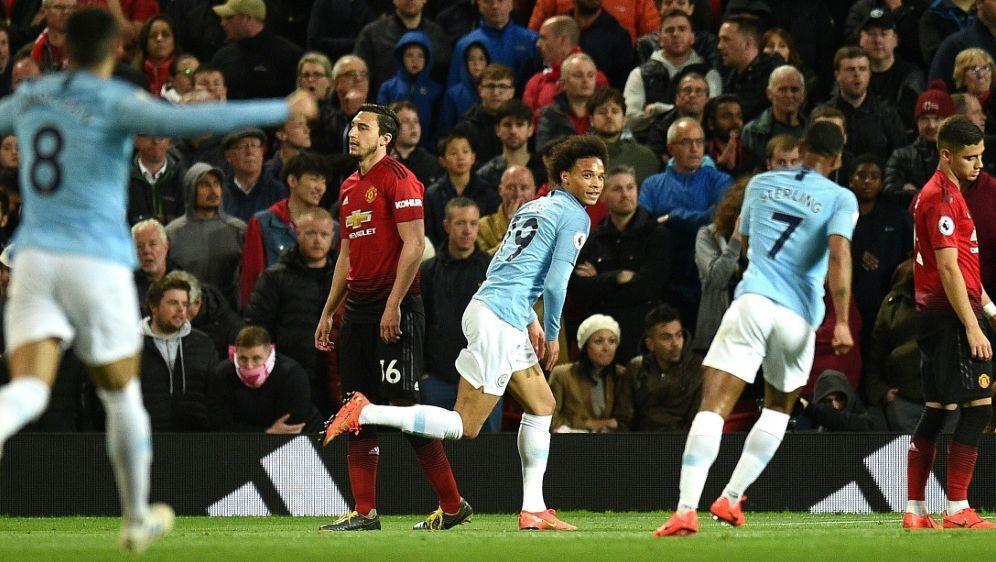 Erzielte das 2:0 gegen Manchester United: Leroy Sane - Bildquelle: AFPSIDOli SCARFF
