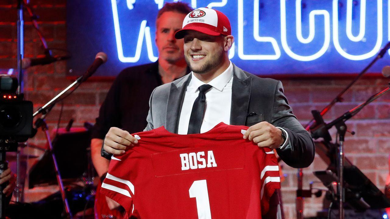 2. Pick - San Francisco 49ers: DE Nick Bosa (Ohio State) - Bildquelle: 2019 Getty Images