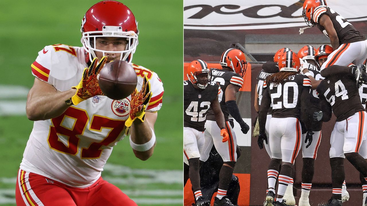 Browns at Chiefs: Travis Kelce vs. Browns Defense - Bildquelle: Getty