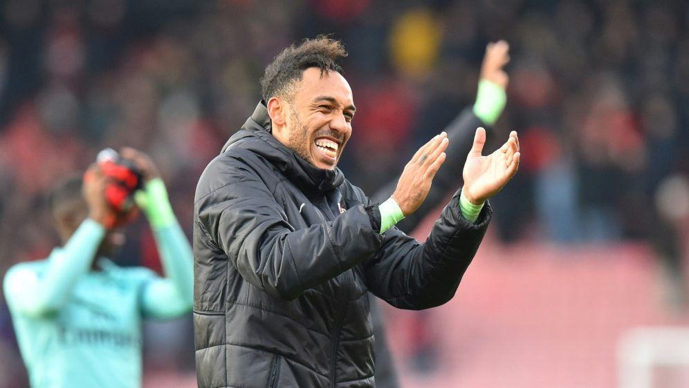 Matchwinner: Arsenals Aubameyang erzielt den Siegtreffer - Bildquelle: FIROFIROSID