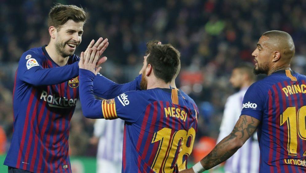 Der FC Barcelona siegt bei Boatengs erstem Ligaeinsatz - Bildquelle: AFPSIDPAU BARRENA