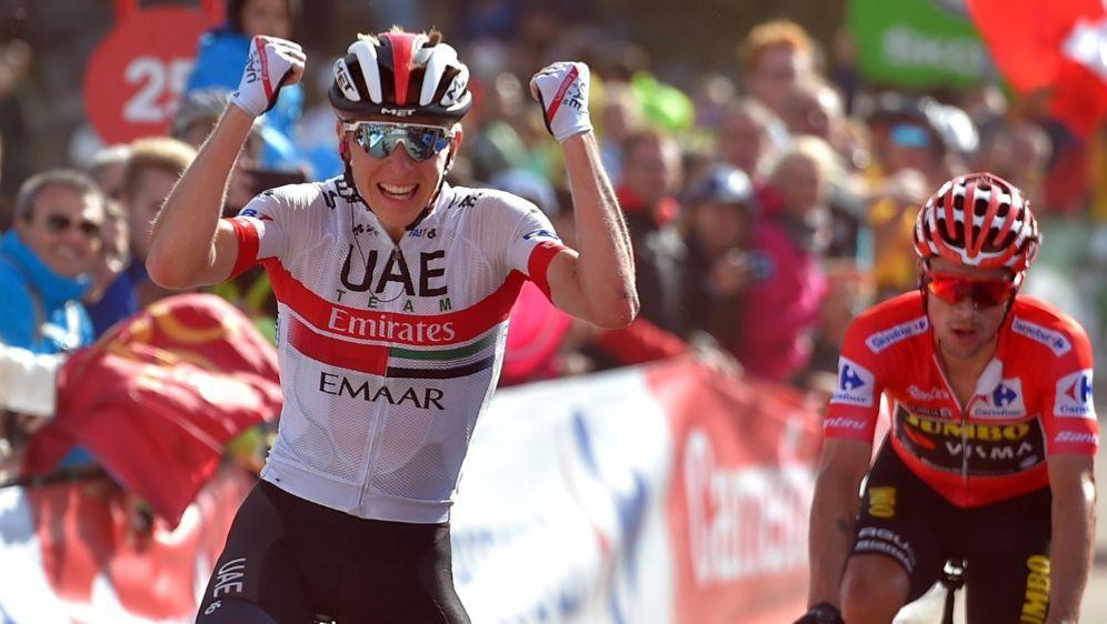 Tadej Pogacar gewinnt die 13. Etappe der Vuelta - Bildquelle: AFPSIDANDER GILLENEA