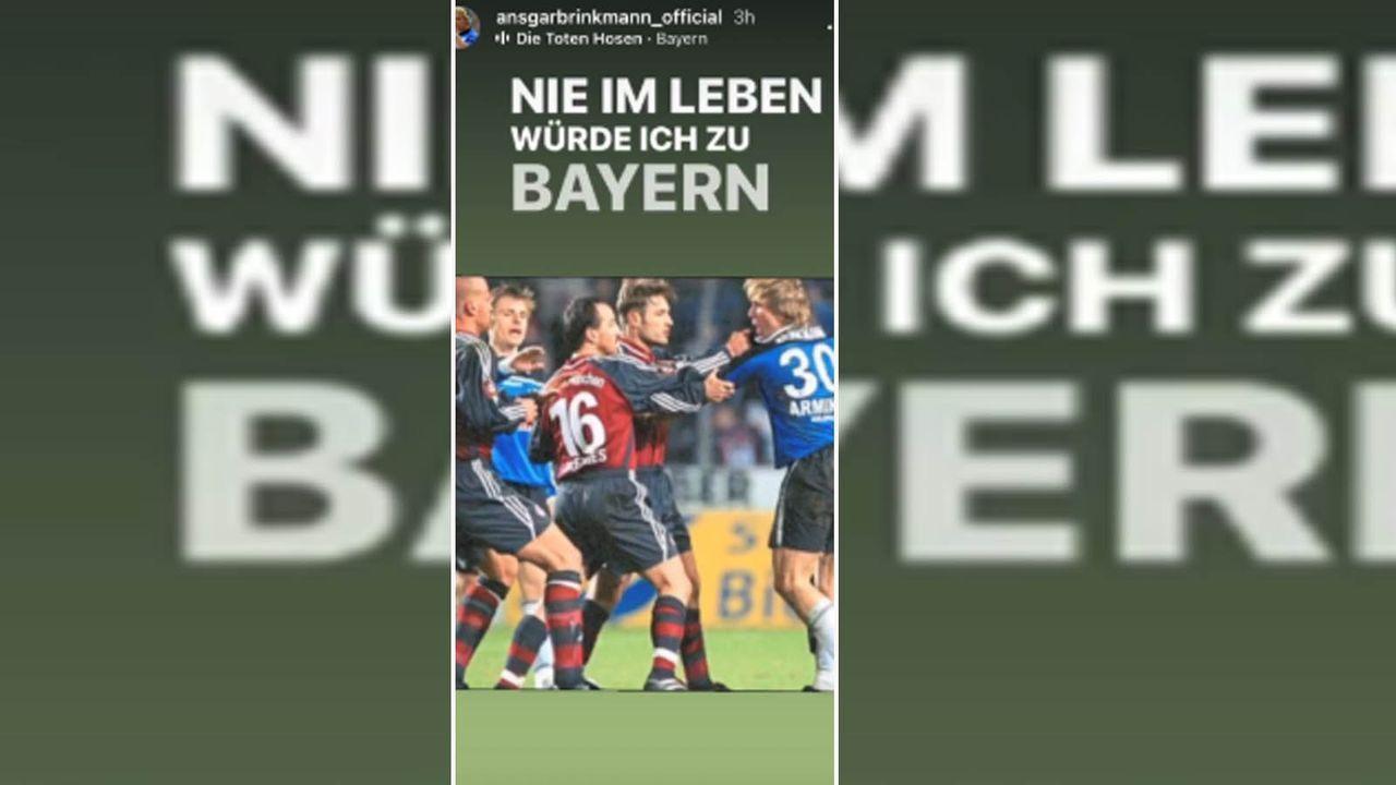 Ex-Bielefelder Ansgar Brinkmann stichelt gegen Bayern - Bildquelle: instagram.com/ansgarbrinkmann