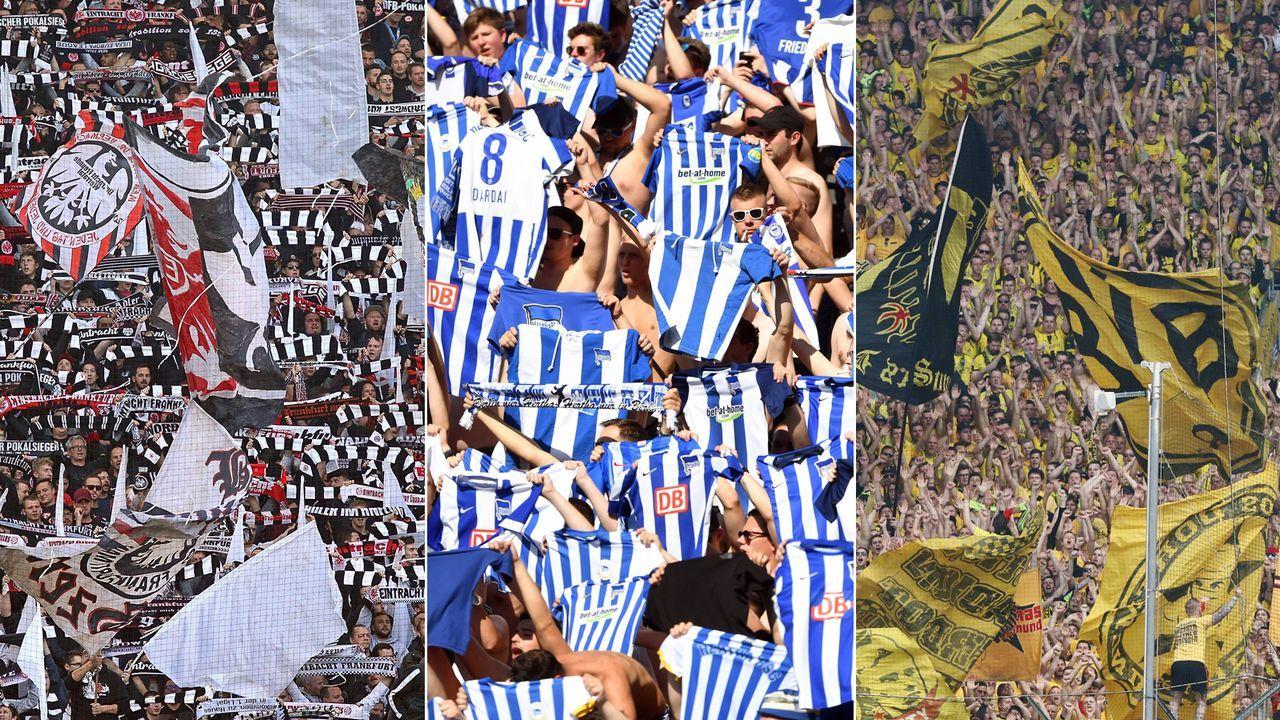 So viele Kilometer legten die Bundesliga-Fans für Auswärtsfahrten zurück - Bildquelle: Imago