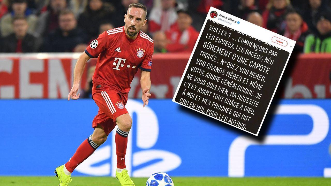 Niveauloser Rundumschlag: Ribery rastet auf Twitter aus - Bildquelle: 2018 Getty Images/ 2019 Twitter/FranckRibery