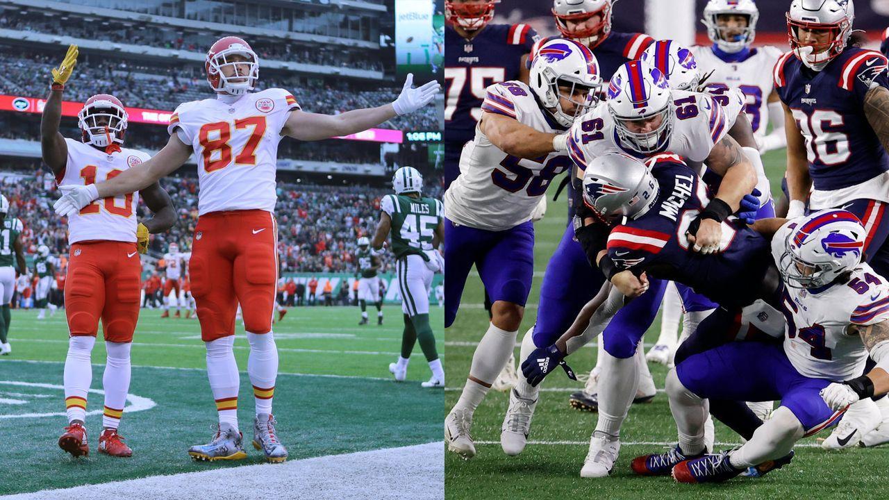 Bills at Chiefs: Tyreek Hill und Travis Kelce vs. Bills-Defense - Bildquelle: Getty Images/imago images
