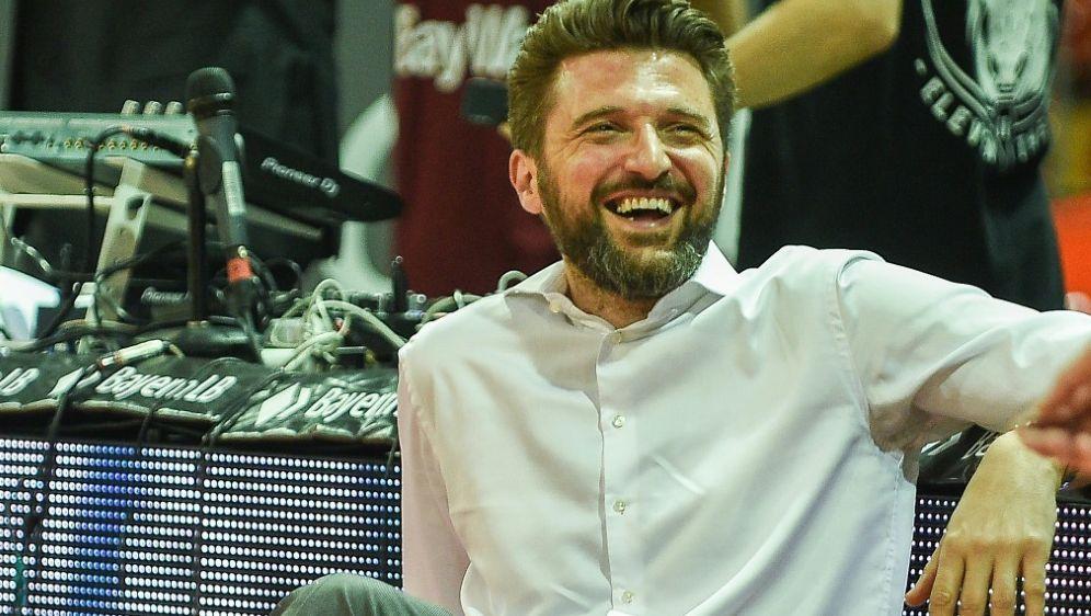 Marko Pesic und die Bayern feiern die Meisterschaft - Bildquelle: PIXATHLONPIXATHLONSID