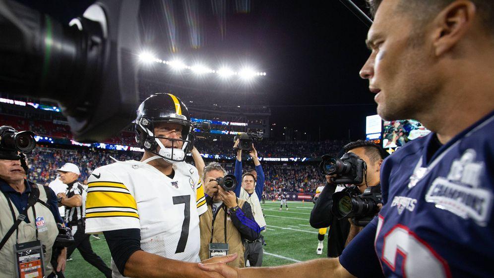 Ben Roethlisberger und Tom Brady. - Bildquelle: imago images / UPI Photo