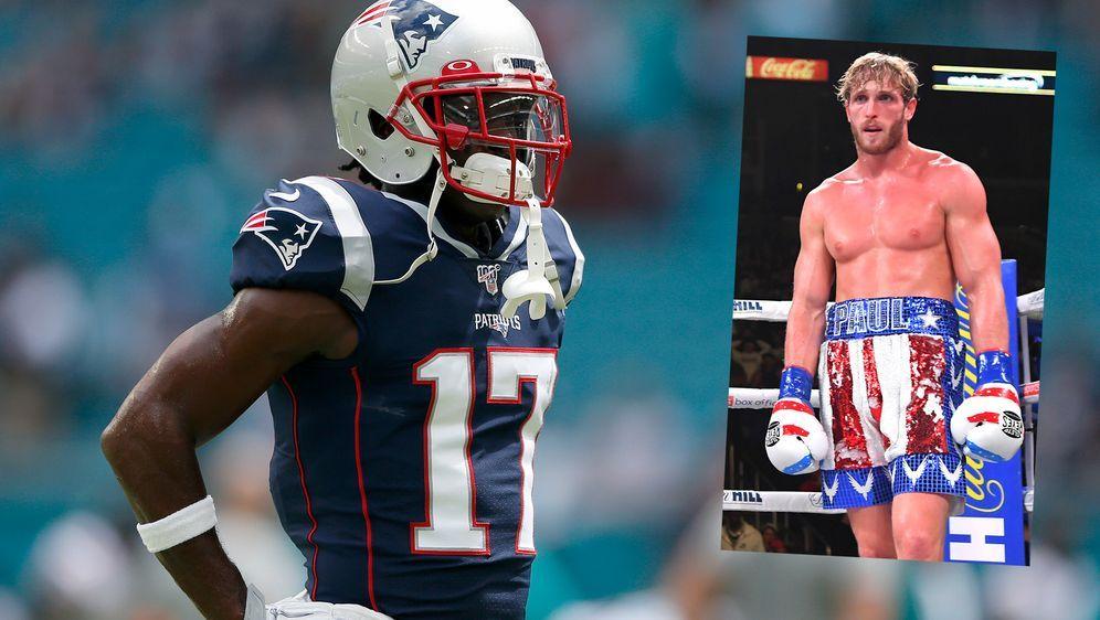 Steigen Antonio Brown und Logan Paul in den Ring? - Bildquelle: 2019 Getty Images