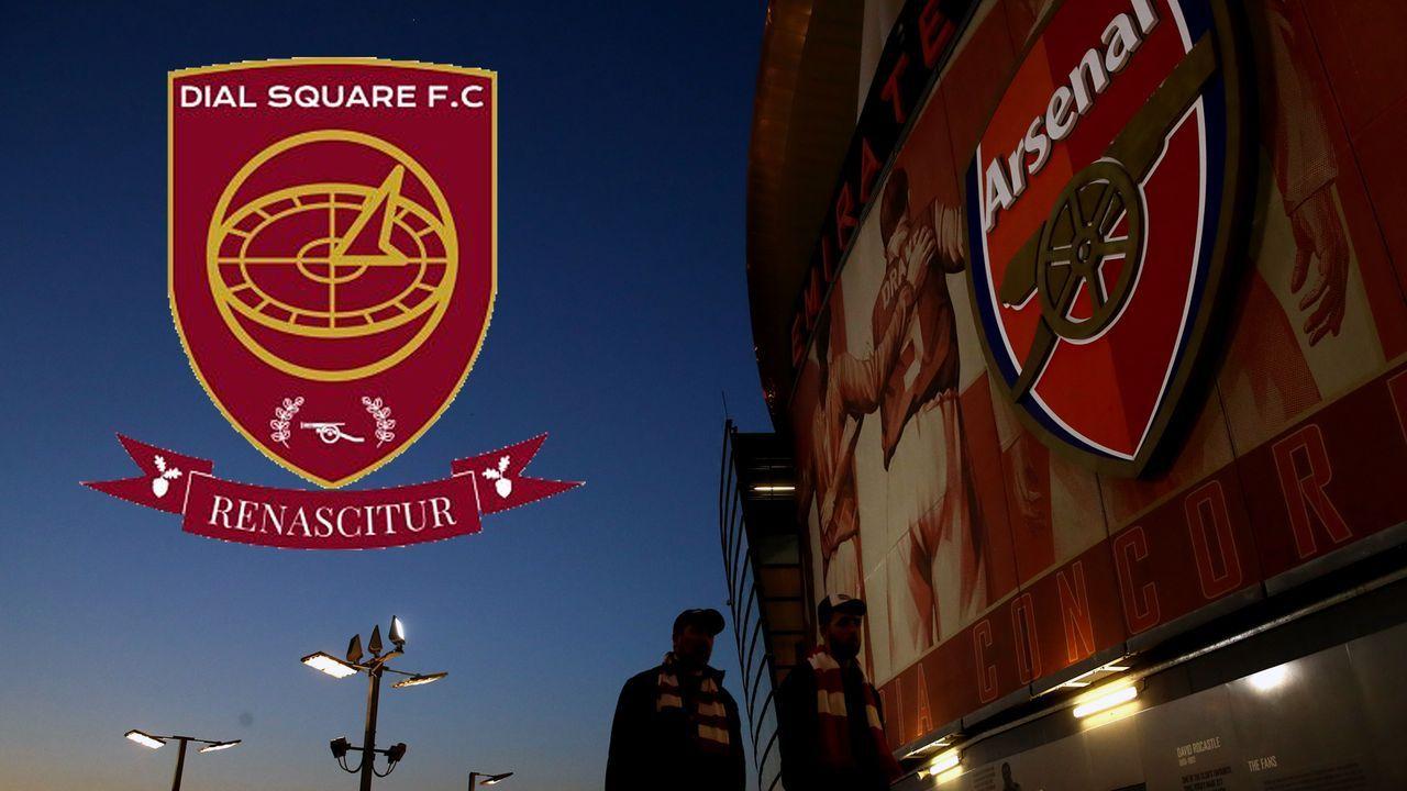 Arsenal-Fans gegen modernen Fußball: Neustart in der 9. Liga - Bildquelle: Getty Images/twitter@DialSquareFC1