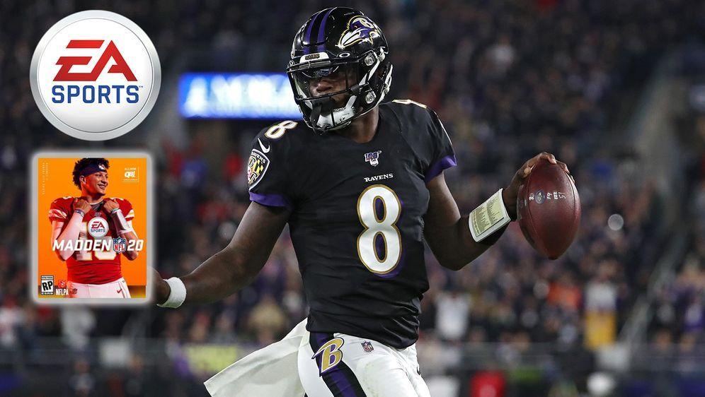 Lamar Jackson hat bereits offenbart, dass er das Cover von Madden NFL 21 zie... - Bildquelle: Getty Images