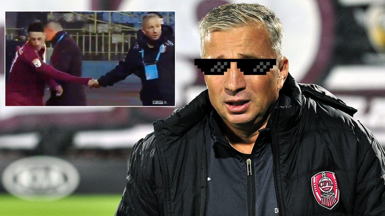 Wegen Altersregel: Cluj-Coach Dan Petrescu mit Sekunden-Trick - Bildquelle: Imago/twitter@AlecsStam