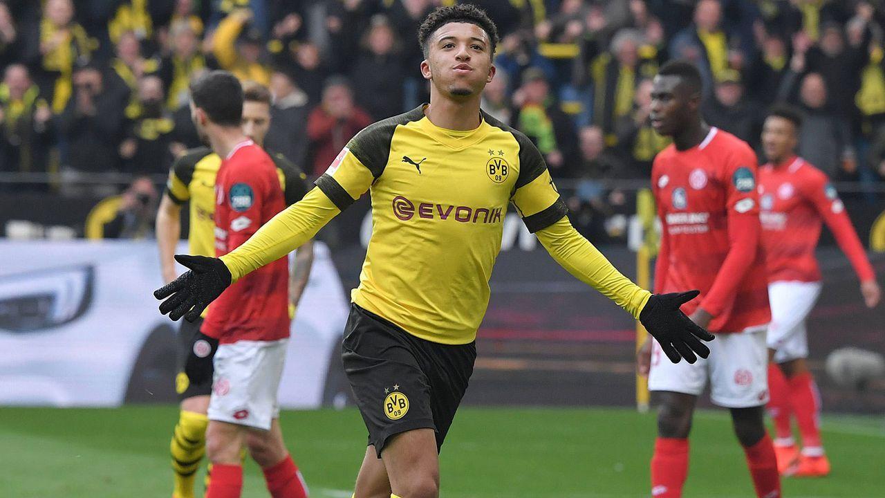 Platz 1: Jadon Sancho (Borussia Dortmund) - Bildquelle: imago images / Team 2