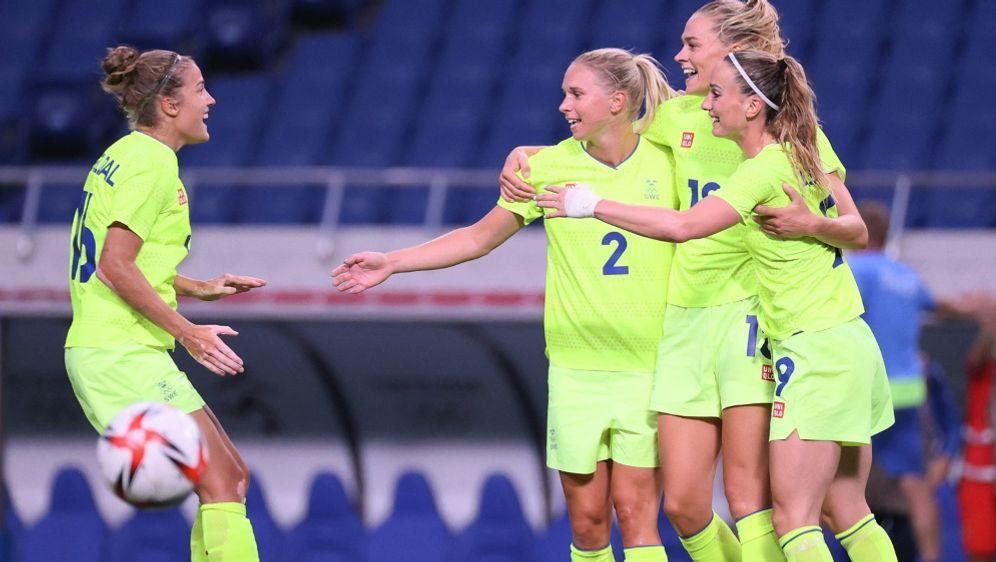 Die Schwedinnen siegen mit einem 4:2 gegen Australien - Bildquelle: AFPSIDAYAKA NAITO