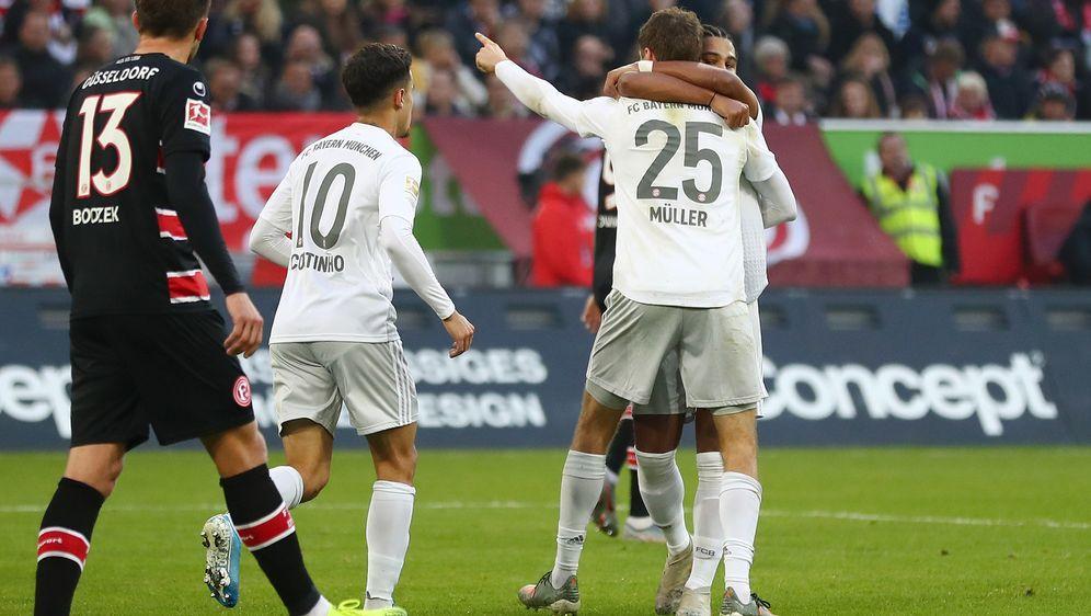 Bayern macht in Düsseldorf schon vor der Pause alles klar - Bildquelle: Getty Images