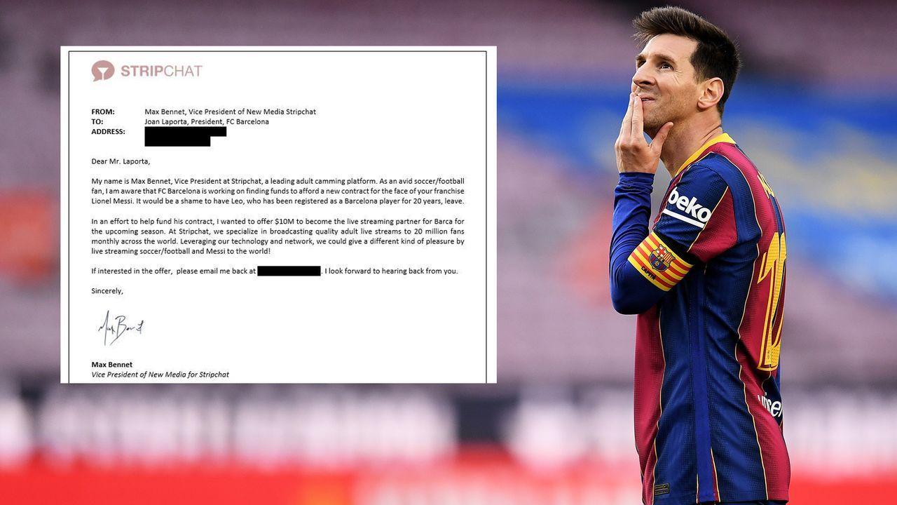 Für Messi-Verbleib: Striptease-Portal sammelt Kohle für Barca - Bildquelle: Getty Images/stripchat