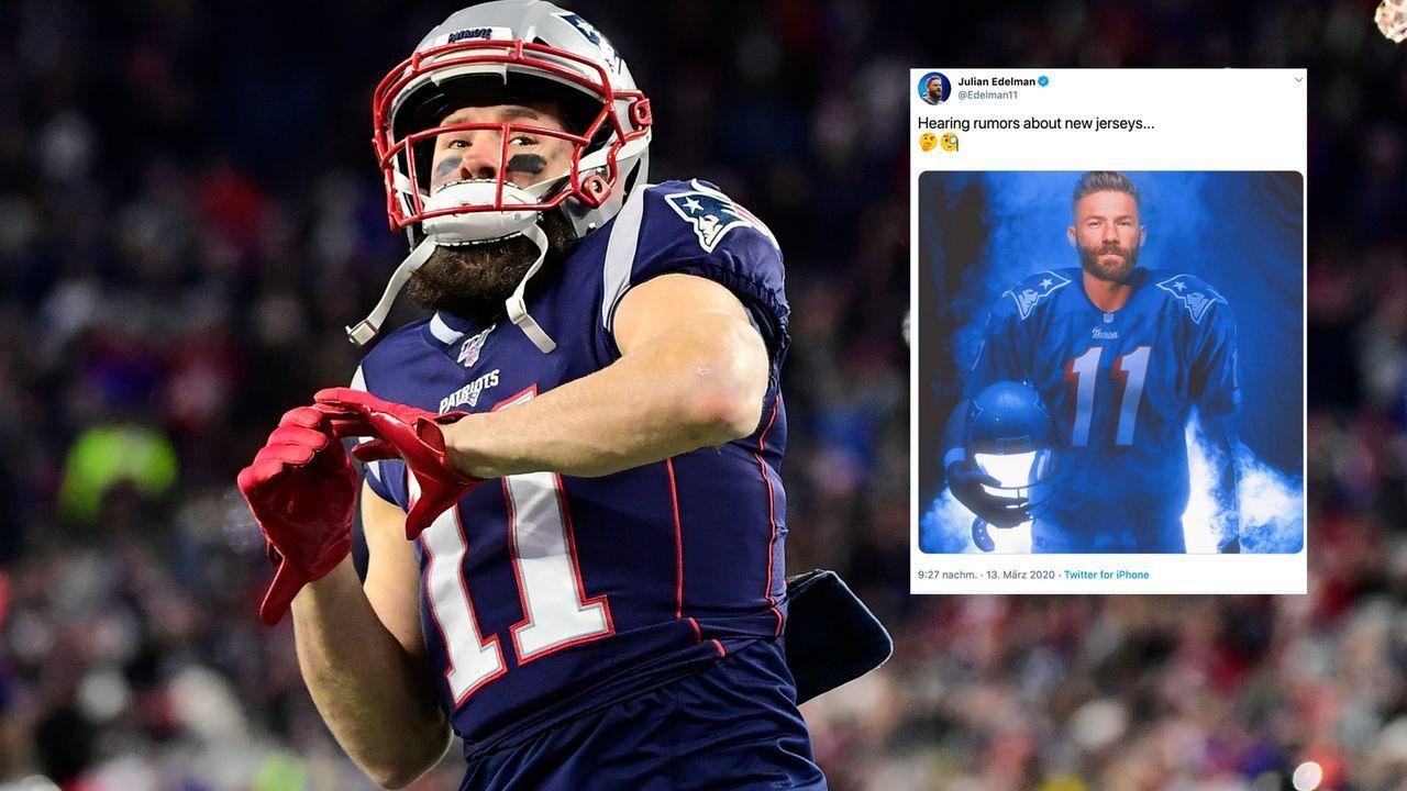 Edelman-Leak: Bekommen die New England Patriots neue Trikots? - Bildquelle: imago images/ZUMA Press