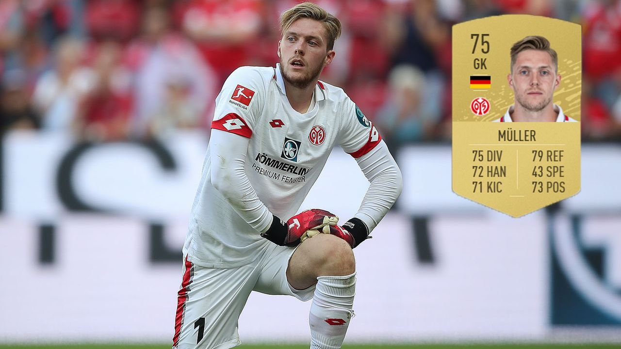 Torwart: Florian Müller (+9/1.FSV Mainz 05) - Bildquelle: 2019 Getty Images