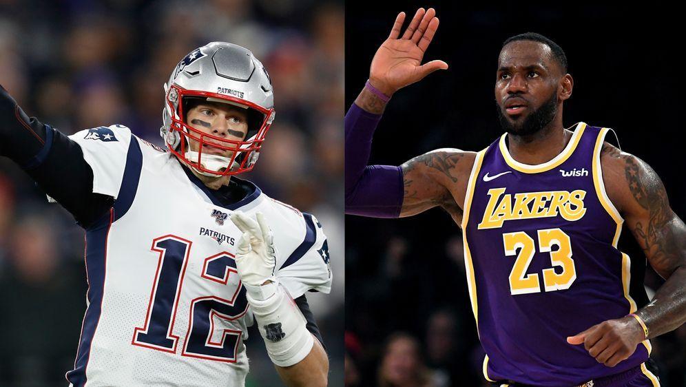 Bis sie nicht mehr laufen können: Tom Brady (li.) und LeBron James.