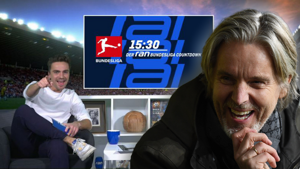 """Eintracht-Ikone Jan Age Fjortoft ist beim """"ran Bundesliga Countdown"""" zu Gast... - Bildquelle: ran.de/Imago Images"""