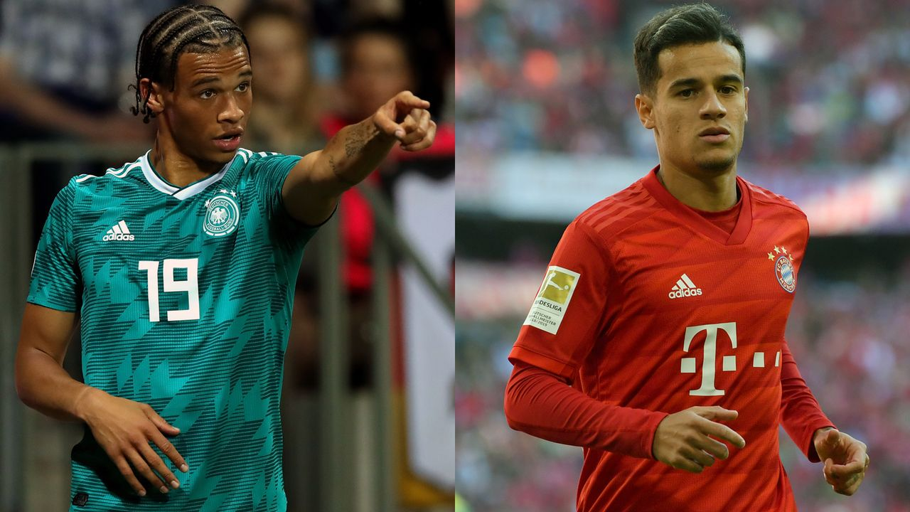 Leroy Sane (Manchester City) und Philippe Coutinho (Bayern München/FC Barcelona) - Bildquelle: Getty Images
