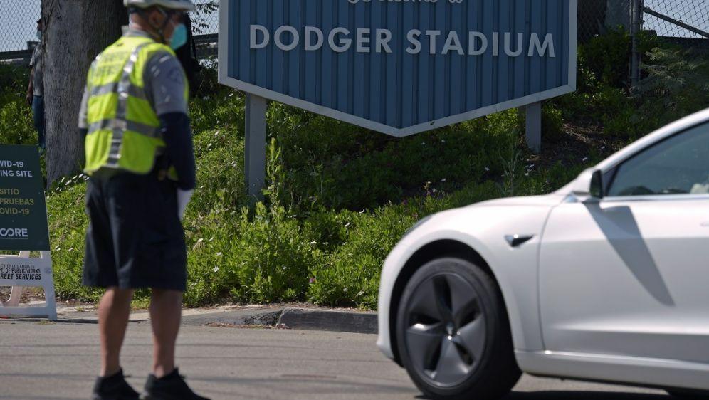 Das Allstar-Game war im Dodger Stadium geplant - Bildquelle: AFPSIDAGUSTIN PAULLIER