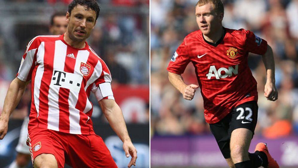 Werden imLegenden-Spiel aufeinander treffen: Mark van Bommel (l.) und Paul ... - Bildquelle: Getty