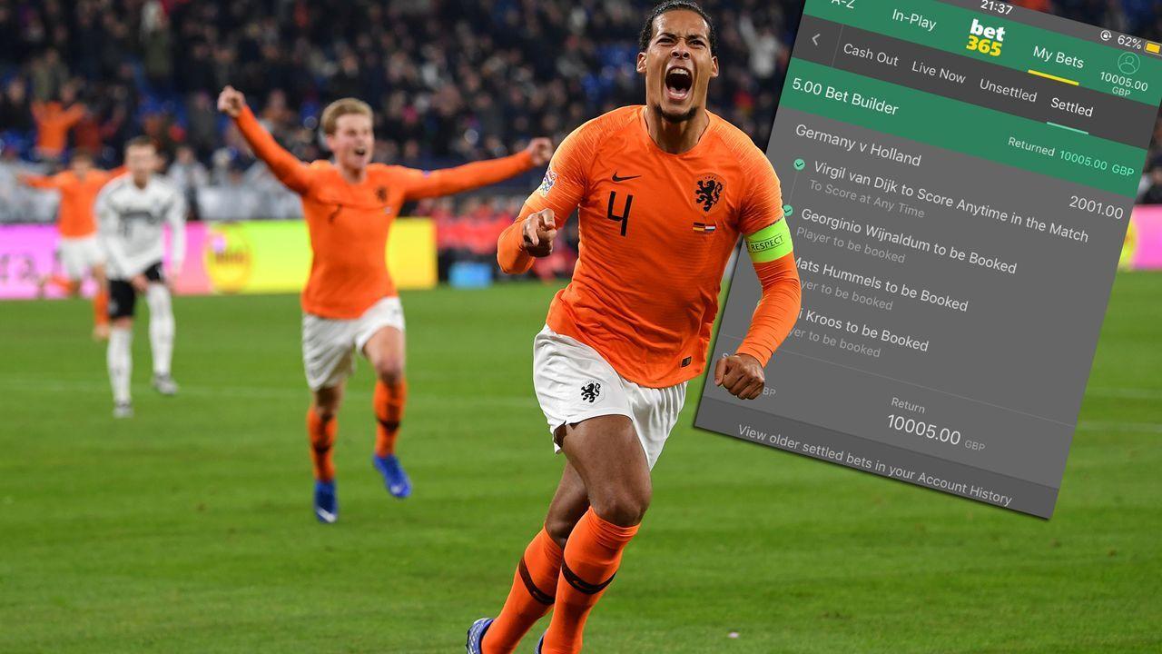 Engländer knackt Jackpot mit irrer Deutschland-Wette - Bildquelle: Getty/Twitter@OONEILL_98