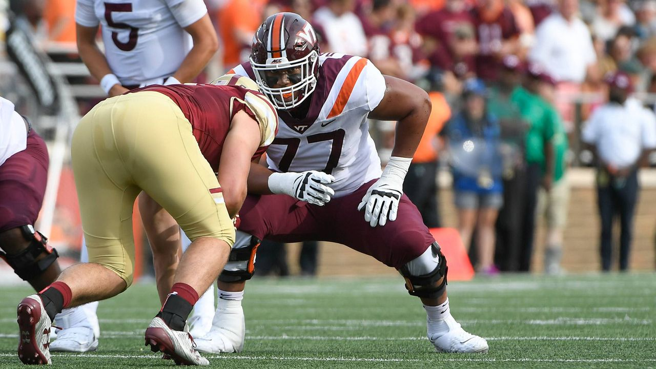 Pick 13: Christian Darrisaw (Offensive Tackle, Virginia Tech) - Bildquelle: imago images / ZUMA Press