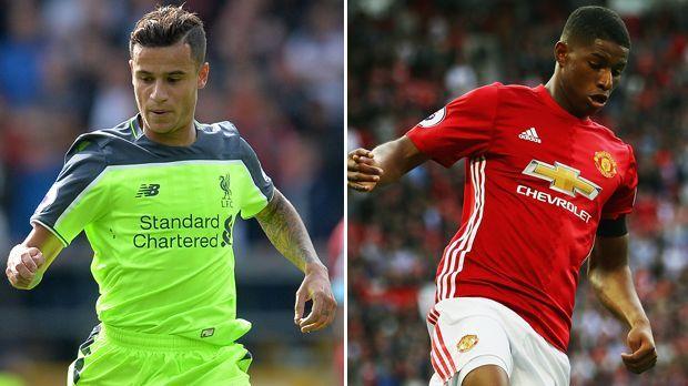 Philippe Coutinho vs. Marcus Rashford - Bildquelle: Getty Images