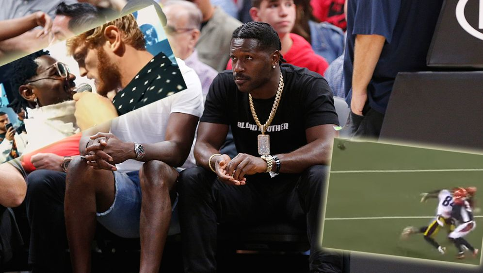 Steigen Antonio Brown und Logan Paul in den Boxring? - Bildquelle: 2019 Getty Images