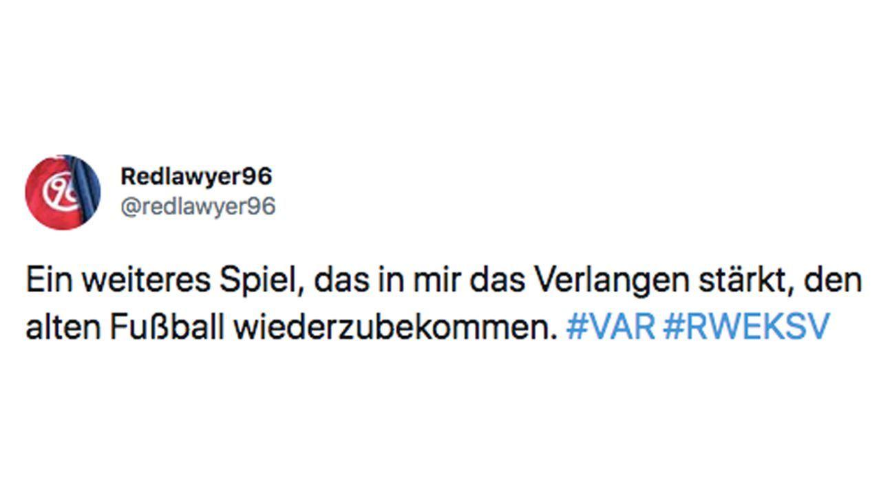 VAR-Wahnsinn im DFB-Pokal: So reagiert das Netz - Bildquelle: Twitter/redlawyer96