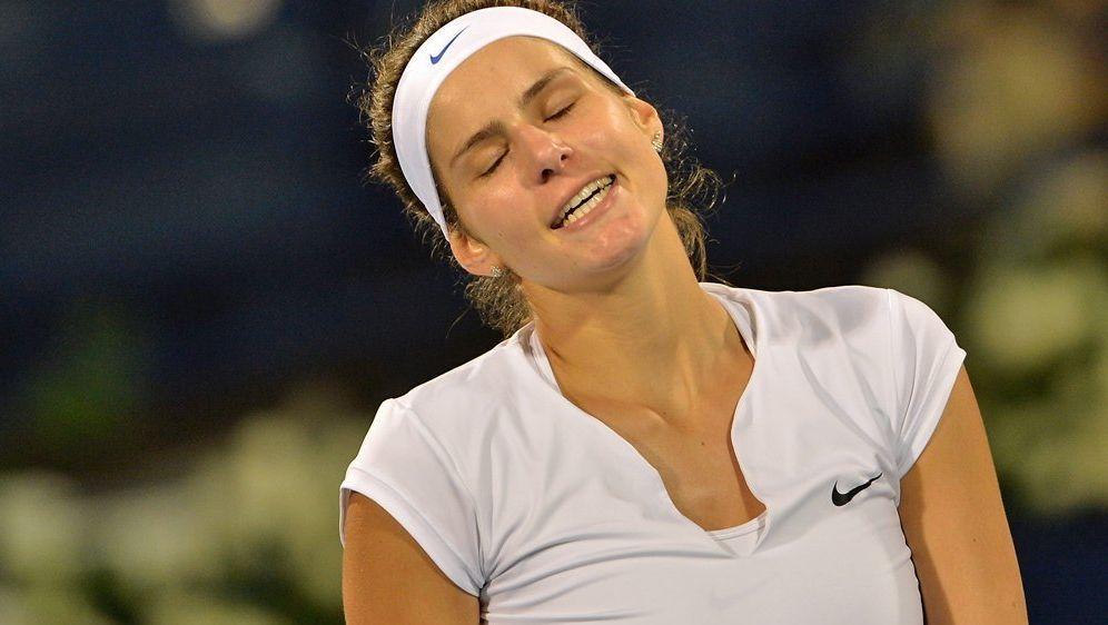 Bitter enttäsucht nach ihrer Niederlage gegen Svetlana Kuznetsova: Julia Gör... - Bildquelle: SID-AFPMARWAN NAAMANI