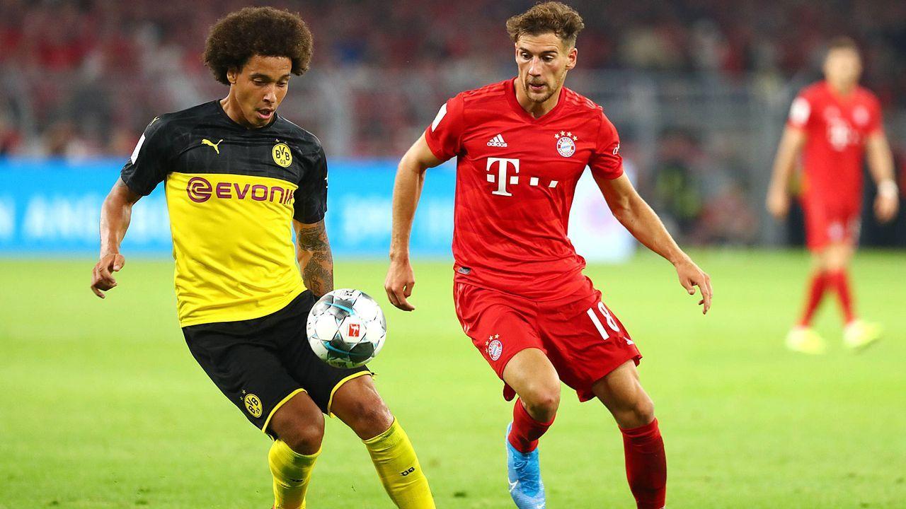 Linkes defensives Mittelfeld: Leon Goretzka vs. Axel Witsel  - Bildquelle: imago images / Thomas Bielefeld