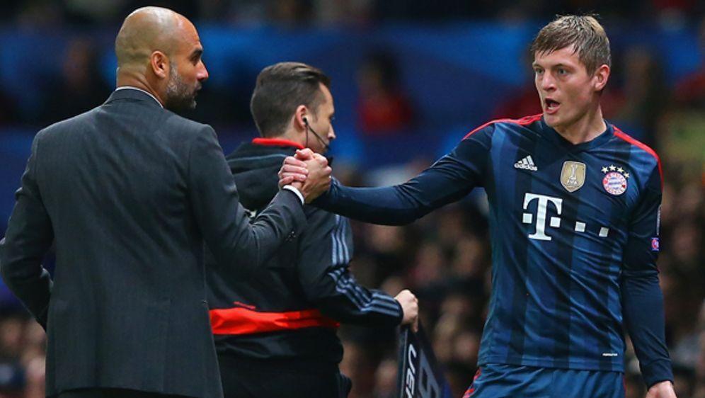 Toni Kroos (r.) bestritt letzte Saison 51 Spiele unter Pep Guardiola - Bildquelle: getty