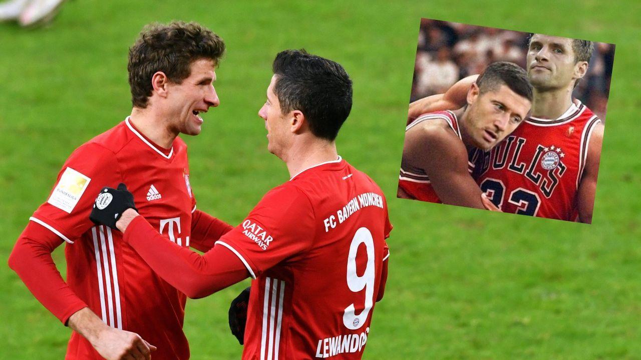 Müller gratuliert Lewandowski und vergleicht sich mit NBA-Legende - Bildquelle: imago/instagram: @esmuellert