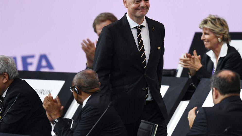 Gianni Infantino wurde als FIFA-Präsident wiedergewählt - Bildquelle: AFPSIDFRANCK FIFE