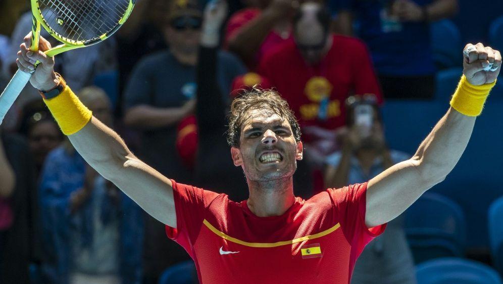 Rafael Nadal steht mit Spanien im Viertelfinale - Bildquelle: AFPSIDTONY ASHBY