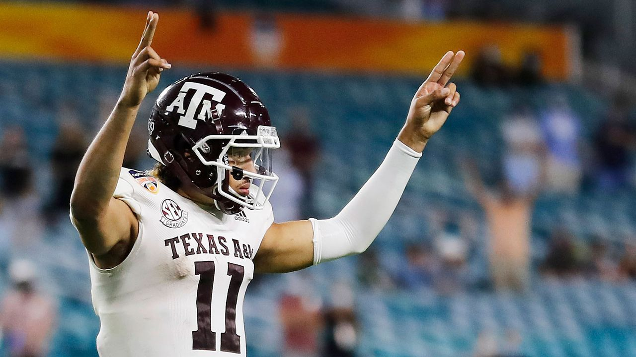Kellen Mond (Texas A&M Aggies / American Team) - Bildquelle: Getty Images