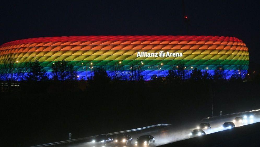 Gegen Ungarn: Arena soll in Regenbogenfarben strahlen - Bildquelle: POOLPOOLSIDANDREAS GEBERT