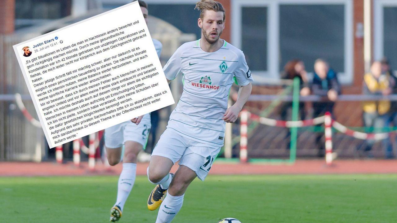 Justin Eilers verkündet finanzielle Notlage auf Facebook  - Bildquelle: Imago/facebook.com/justin eilers