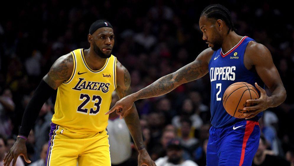 Die Lakers treffen am ersten Spieltag auf die Clippers - Bildquelle: AFPGETTY SIDMike Ehrmann
