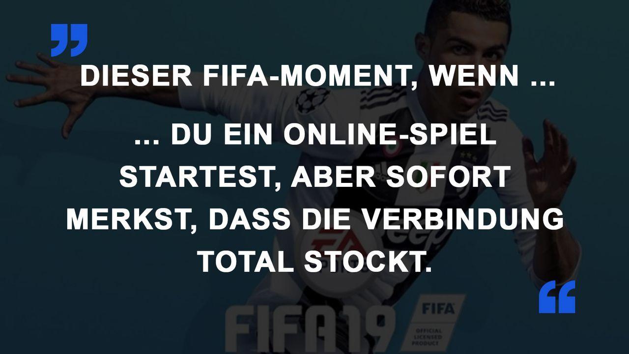 FIFA Momente Verbindung stockt