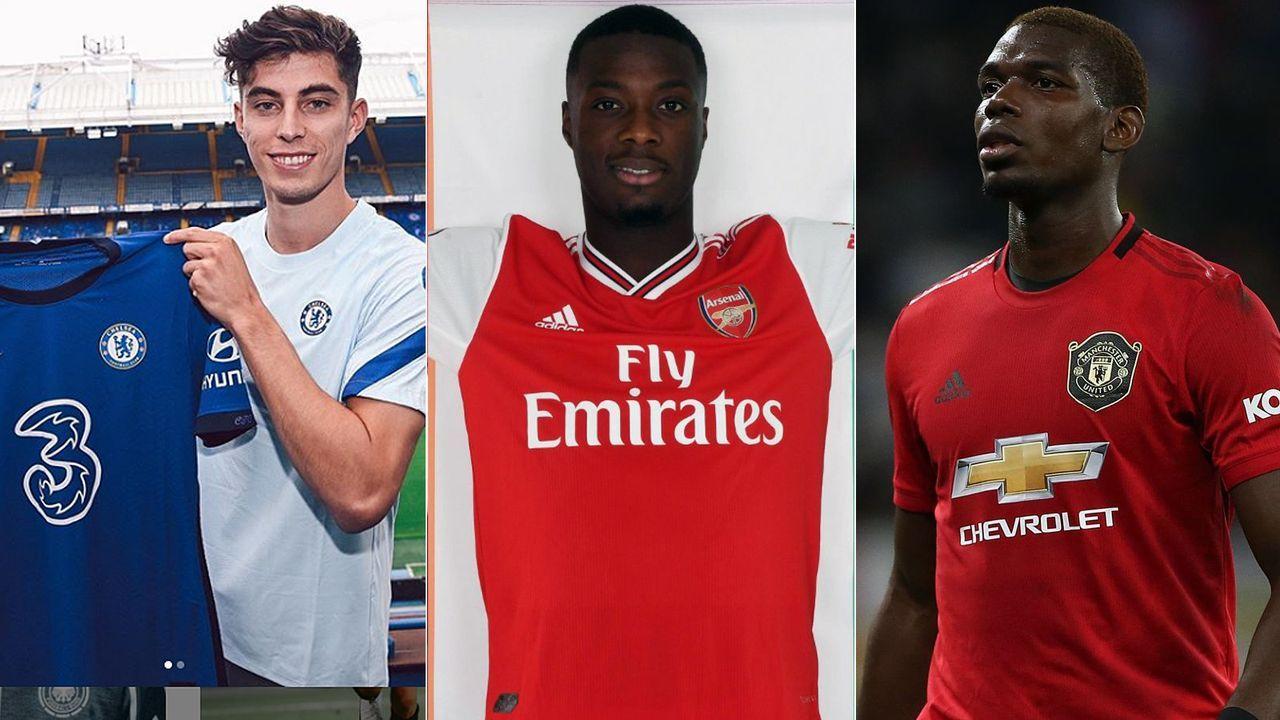 Die Rekord-Transfers der 20 Premier-League-Klubs - Bildquelle: Getty Images/Imago/twitter@Arsenal/instagram@kaihavertz29