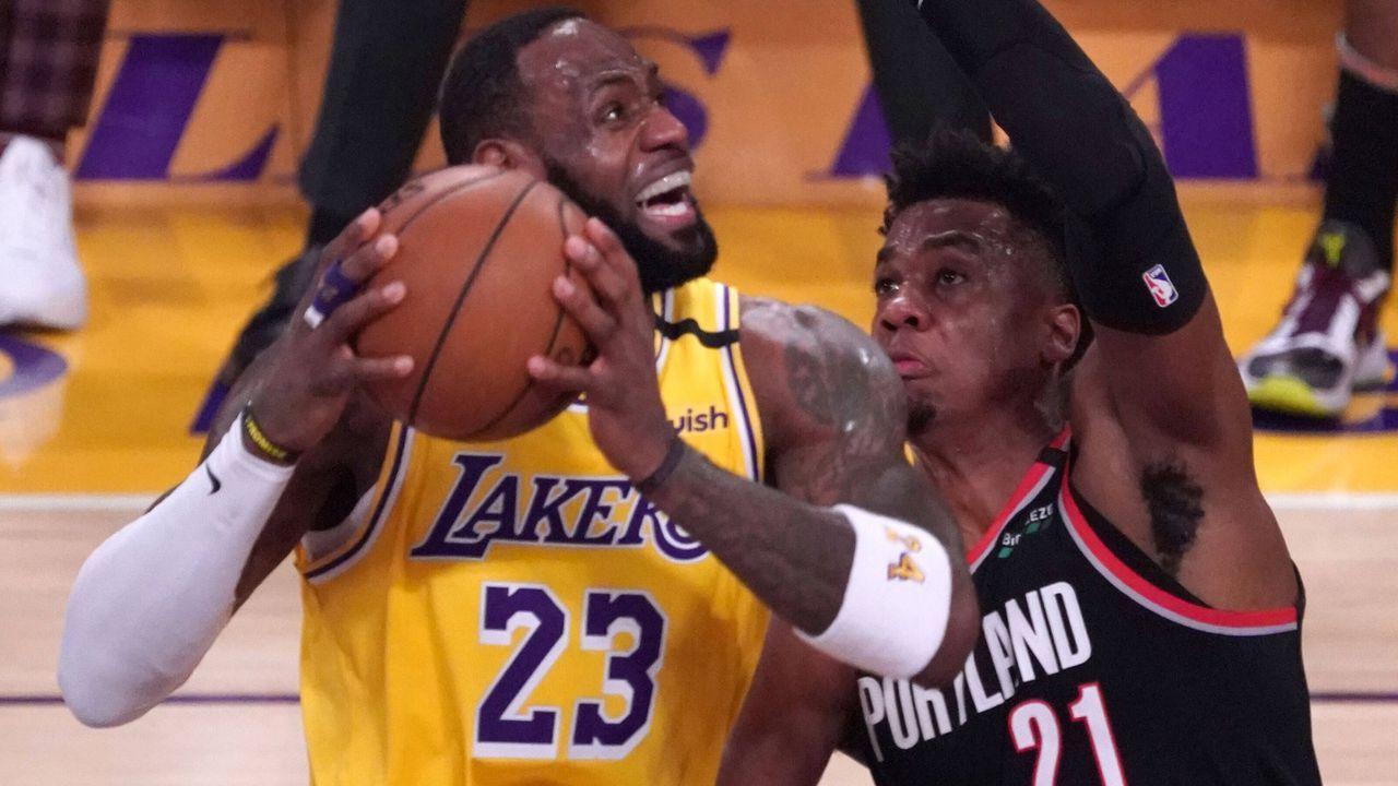 Westen: Los Angeles Lakers (1) vs. Portland Trail Blazers (8)  - Bildquelle: imago images/ZUMA Press