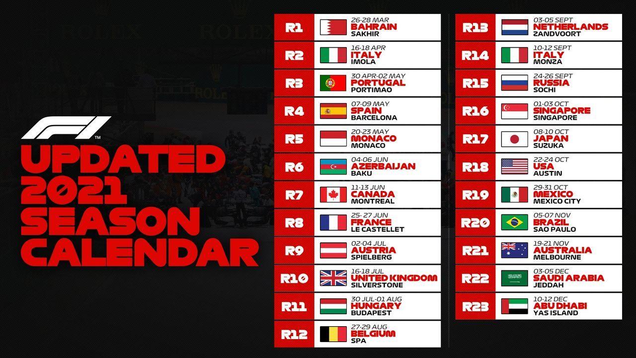 Der Kalender im Überblick  - Bildquelle: www.twitter.com/F!