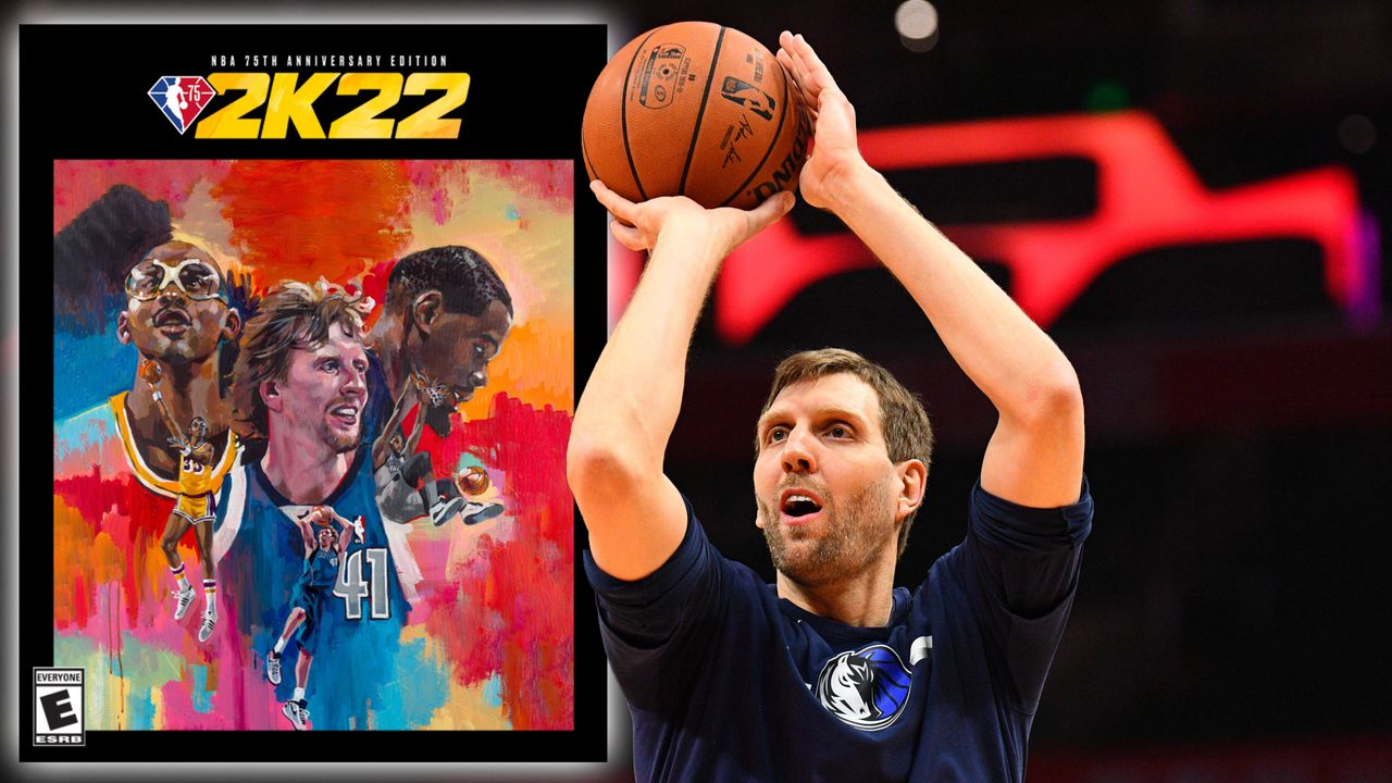 """NBA 75th Anniversary Edition"": Dirk Nowitzki, Kareem Abdul-Jabbar, Kevin Durant - Bildquelle: imago images / Icon SMI, Twitter/NBA2K"
